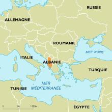 Albanie : carte de situation