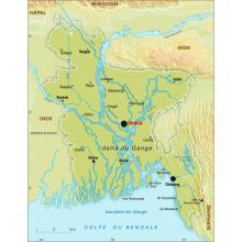 Bangladesh : carte physique