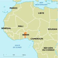 Bénin : carte de situation