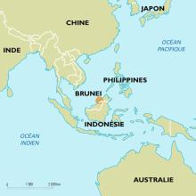 Brunei : carte de situation