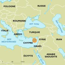 Chypre : carte de situation