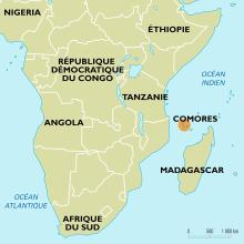 Comores : carte de situation