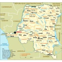 Congo (République démocratique du) : carte administrative