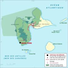 Guadeloupe [France] : carte administrative