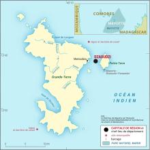 Mayotte [France] : carte administrative