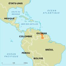 Guyana : carte de situation