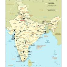 Inde : carte administrative