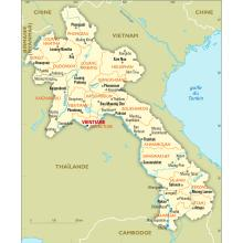 Laos : carte administrative