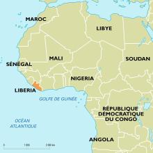 Liberia : carte de situation