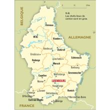 Luxembourg : carte administrative