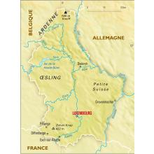 Luxembourg : carte physique