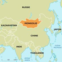 Mongolie : carte de situation