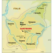 Saint-Marin : carte physique