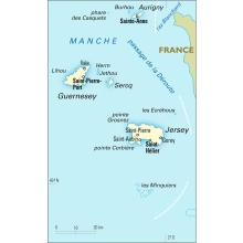 Anglo-Normandes (îles) [Royaume-Uni] : carte administrative