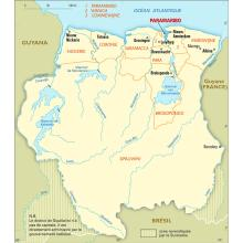 Suriname : carte administrative