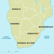 Eswatini : carte de situation