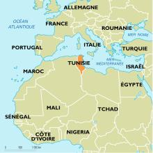 Tunisie : carte de situation