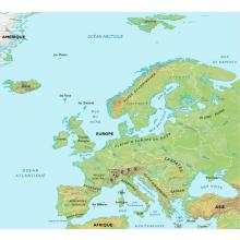 Europe : carte physique