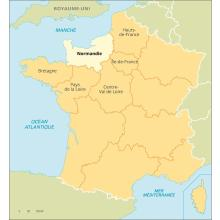 Normandie : carte de situation