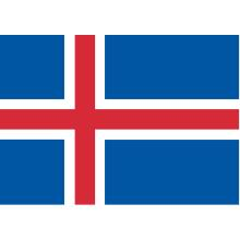 Islande : drapeau national