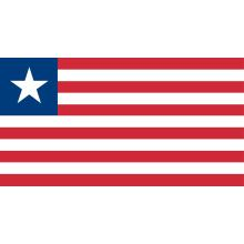 Liberia : drapeau national