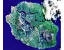 Photo satellitaire de l'île de La Réunion